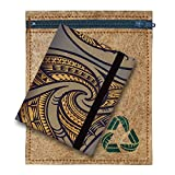 Green Banana Eco-Leather Passport Travel Wallet (Tribal Grey)
