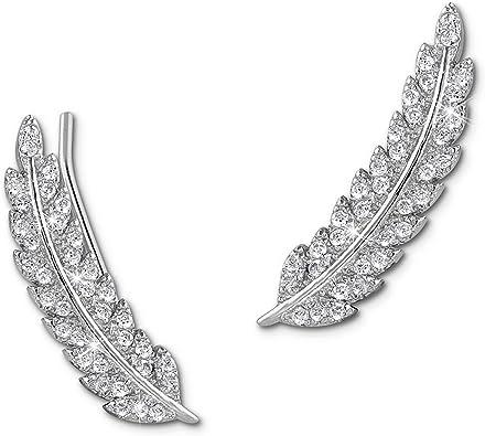 SilberDream Ear Cuff Feder Damen Ohrring Ohrklemme 925 Sterling Silber Silberschmuck GSO465W
