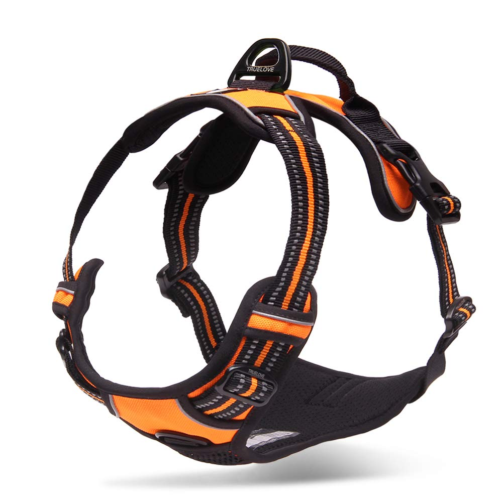 Chai's Choice Best Outdoor Adventure Dog Harness (Large, Orange) by Chai's Choice