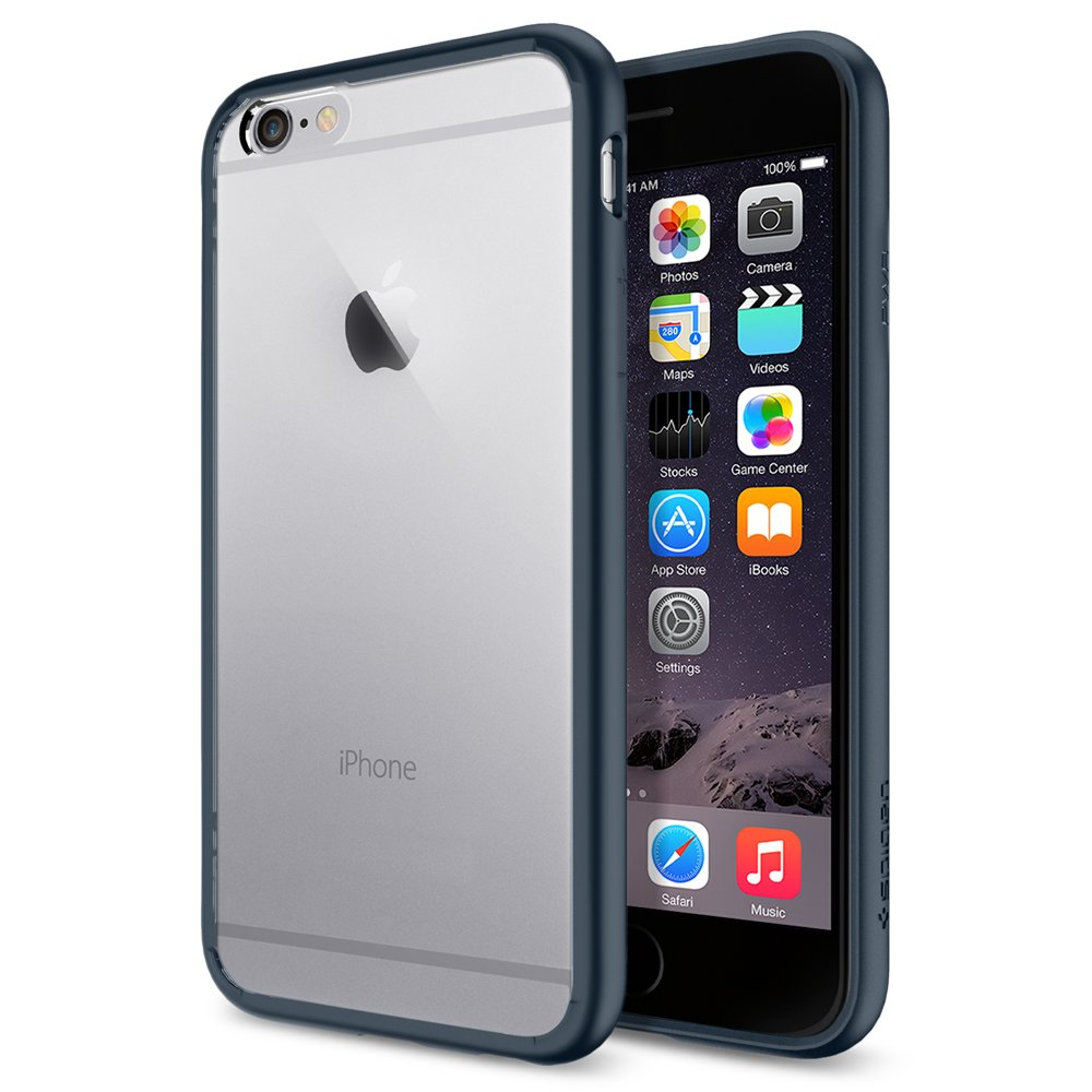 02b15028a Amazon.com: Spigen Ultra Hybrid Designed for Apple iPhone 6s Case/Designed  for iPhone 6 (2014)- Black: Cell Phones & Accessories