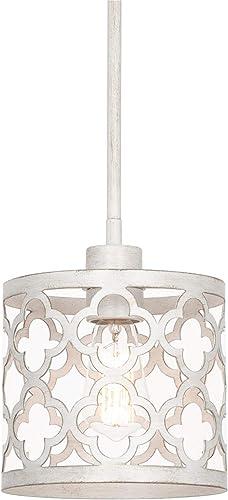 Kira Home Sutton 9″ 1-Light Modern Pendant Light Metal Drum Shade