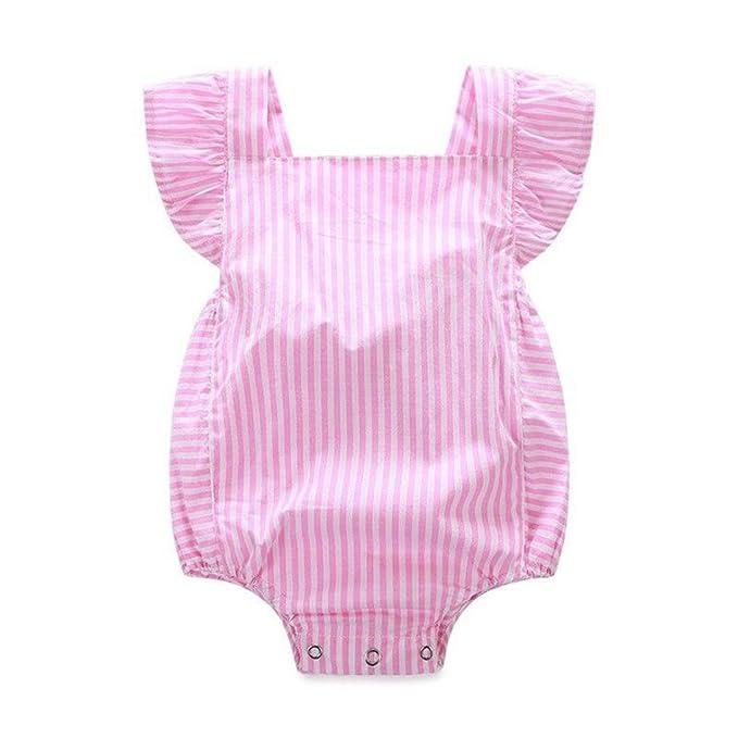 Amlaiworld Mono Bebé, Ropa para Recién Nacidos Ropa para Bebés Rayas(0-2 años de Edad): Amazon.es: Ropa y accesorios
