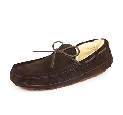 f4483bba43e DREAM PAIRS Men s Au-Loafer-02 Brown Faux Fur Slippers Loafers Shoes Size  6.5