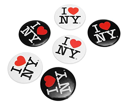 Amazon i love ny new york button pins 3 white 3 black pack i love ny new york button pins 3 white 3 black pack of 6 altavistaventures Image collections
