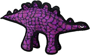 TUFFY - World's Tuffest Soft Dog Toy - Dinosaur Stegosaurus- Squeakers- Multiple Layers. Made Durable, Strong & Tough. Interactive Play (Tug, Toss & Fetch). Machine Washable & Floats.
