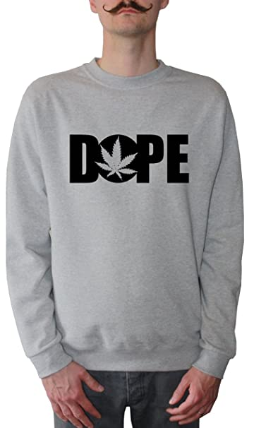 Mister Merchandise Sudadera para Hombre Dope Cannabis Marihuana Suéter Sweater, Tamaño: XXL, Color: Gris: Amazon.es: Ropa y accesorios