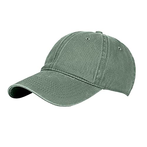 14b9b2e782a Jewmond Classic Unisex Baseball Cap Adjustable Washed Dyed Cotton Ball Hat  for Men and Women Army