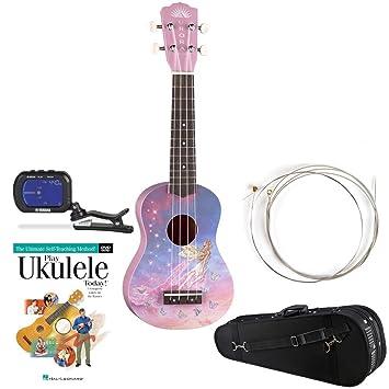 yamaha ukulele. luna aurora faerie soprano ukulele w/ knox padded case, yamaha gct1 clip-on u