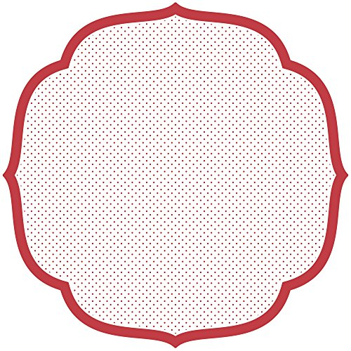 - Hester & Cook Paper Placemat, Pad of 12 (Die-Cut Red Swiss Dot Medallion)