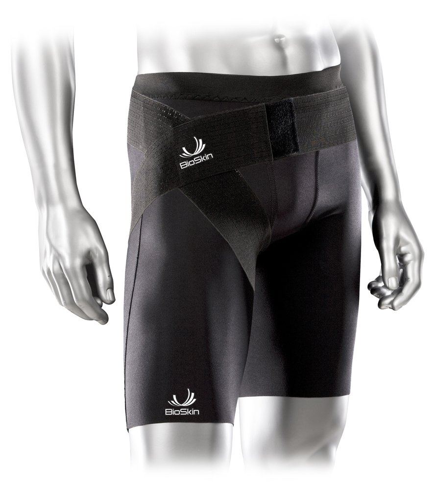 BioSkin Compression Shorts - Medical Grade Recovery Compression for Hamstring, Thigh, and Groin Injuries - Additional Groin Wrap for targeted Support - (Medium)