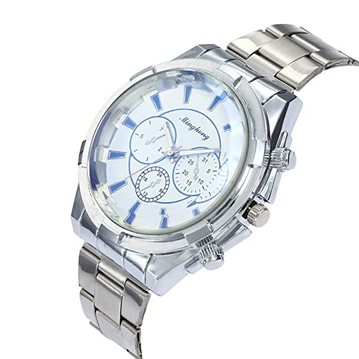 ... Quartz Watch with Stainless Steel Band Cases Under 55 Casual Wristy Watches Luxury Watches on Clearance Relojes De Hombre Birthdays Gifts for Boys