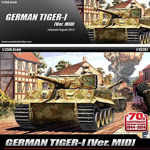 ACADEMY #13287 1//35 Plastic Model Kit German Tiger-I Ver.Mid Tank