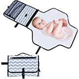 Rovtop Portable Changing Mat, Waterproof Travel Diaper Changing Pad with Large Capacity for Storaging Diapers, Keys, Wallets