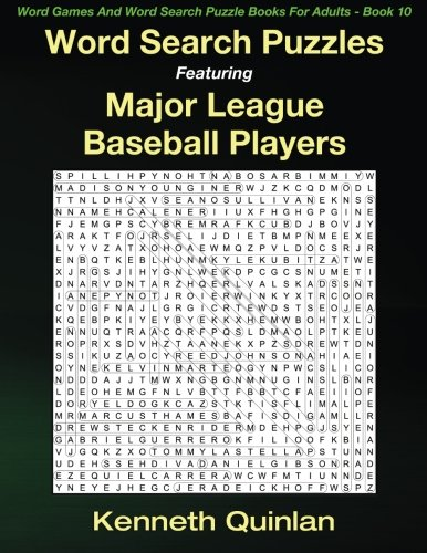 Word Search Puzzles Featuring Major League Baseball Players (Word Games And Word Search Puzzle Books For Adults) (Volume 10)