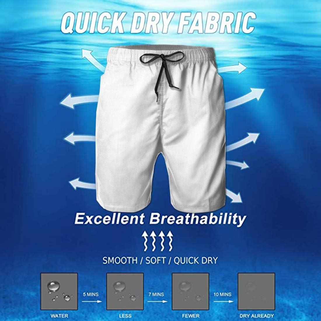 WU-Tang-Tie-Dye Mens 3D Printed Cool Swim Trunks Quick Dry Beachwear