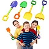 Toy Cubby Kids Sandbox and Soil Gardening Tool Playset