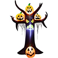 YIHONG 10 Ft Halloween Inflatables Dead Tree with Pumpkins Decorations