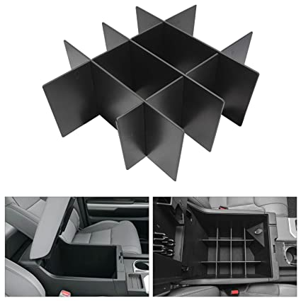 Toyota Tundra Accessories Seven Sparta Center Console Organizer for Toyota Tundra 2014-2019 Insert ABS Tray Armrest Box Secondary Storage