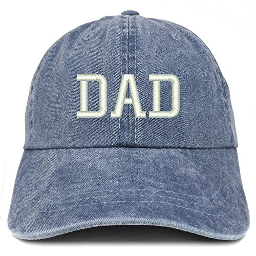 Trendy Apparel Shop Dad Embroidered Pigment Dyed Low Profile Cotton Cap - Navy