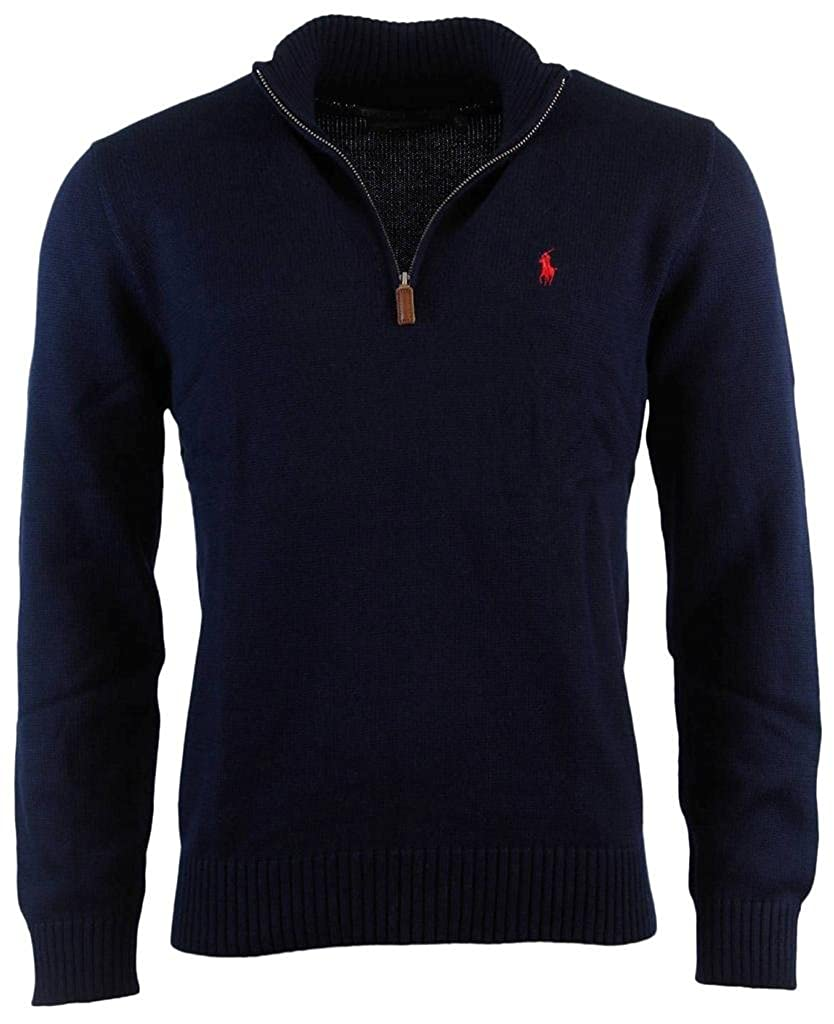 Polo Ralph Lauren Men's Half Zip Pullover Cotton Sweater