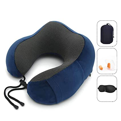 new design order online online retailer Vival Travel Pillow Pure Memory Foam Neck Pillow, Ergonomically 360 Head &  Neck Support Portable U-Shaped Head Cushion, for Airplane Car & Home Use ...