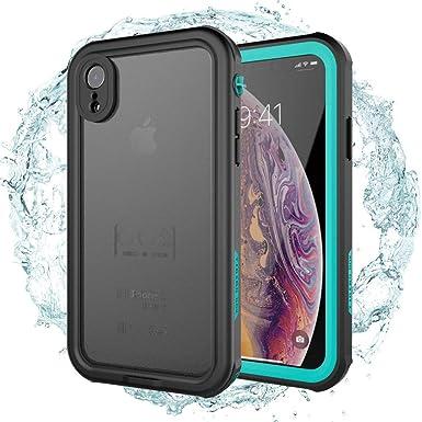 AICase Carcasa Impermeable para iPhone XR, a Prueba de Golpes, Nieve, a Prueba de Polvo, certificación IP68, Totalmente sellada bajo el Agua, Funda ...