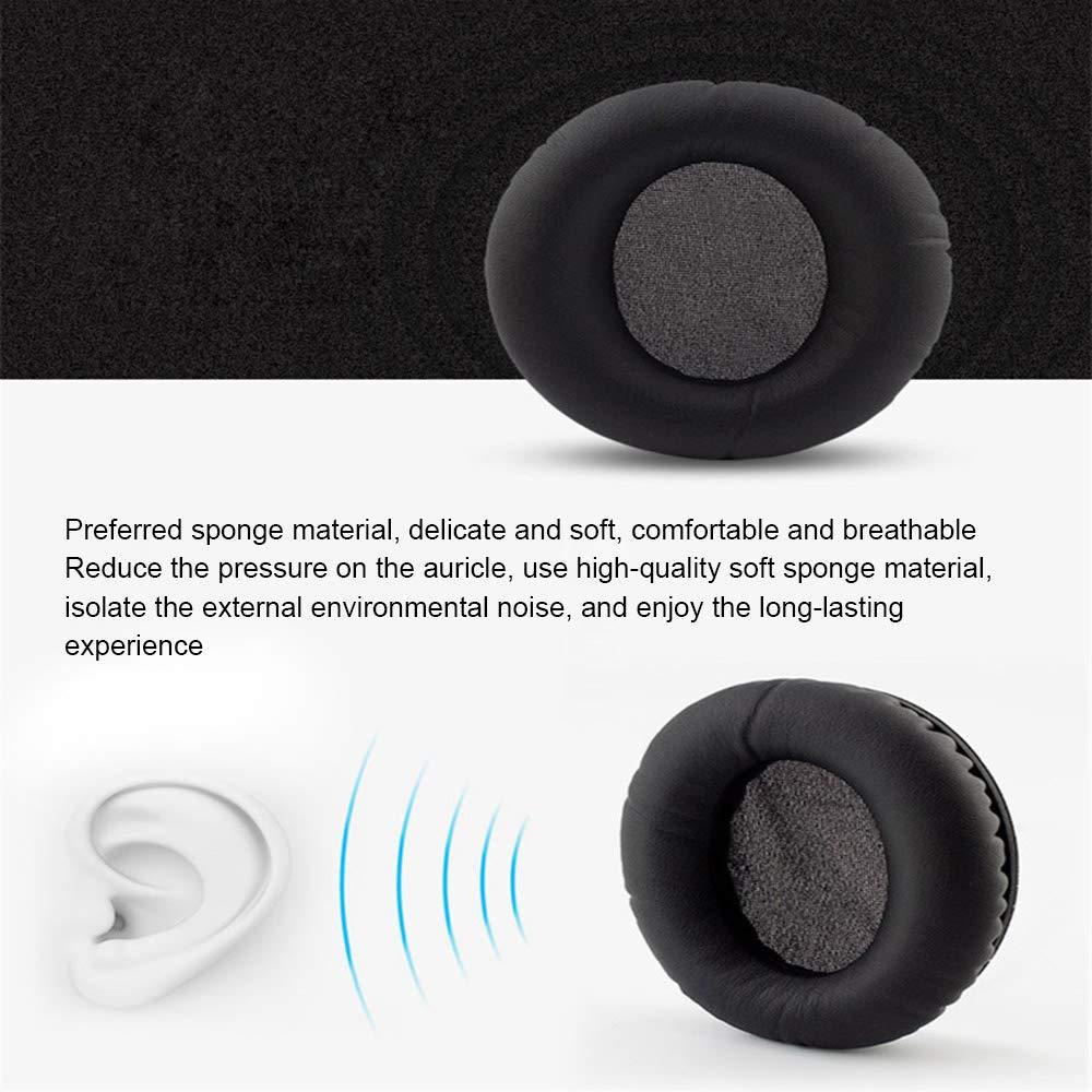 Gamogo Almohadillas de Repuesto para Audio Technica ATH-ANC7 ANC9 ANC27 ANC29 ANC70 Auriculares Esponja Cubierta de Almohadilla Universal Suave 2PCS Negro