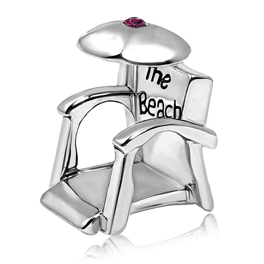 JMQJewelry Holiday Birthstone Jan-Dec Beach Chair Fashion Parasol Beads Rhinestone Crystal Charms Bracelets JMQ-AC-JO-018_X04