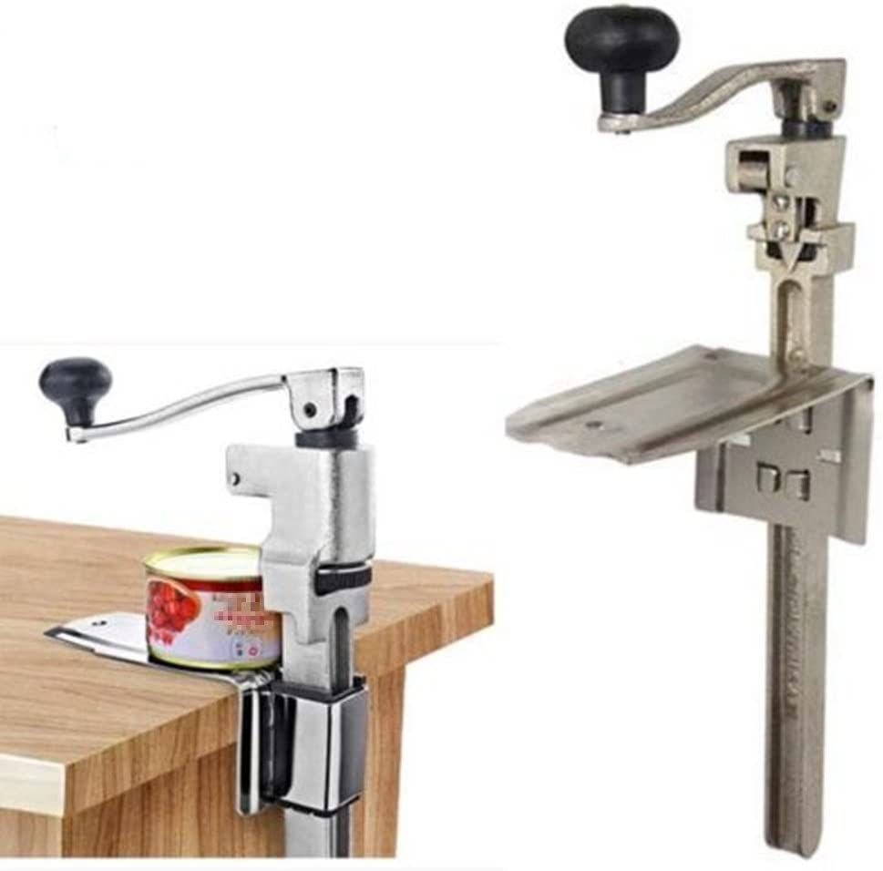 with Clamping Base Medium Duty Table Mount with 19 Bar Length BOJ Commercial Grade Manual Can Opener with Angled Bar Nickel Plated