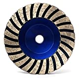 4'' Diamond Turbo Grinding Cup Wheel with Aluminum Backer 5/8-11 Thread Coarse 50 Grit for Concrete Granite Angle Gringer Sanding