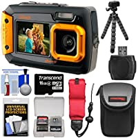 Coleman Duo 2V9WP Dual Screen Shock & Waterproof Digital Camera (Orange) with 16GB Card + Case + Float Strap + Flex Tripod + Kit Explained Review Image