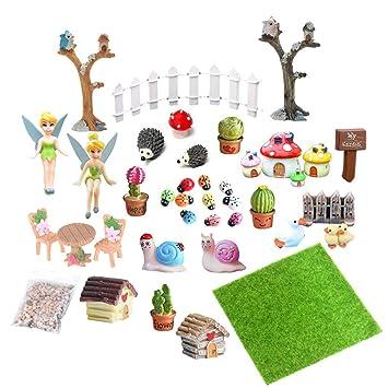Eqlef Miniatur Deko Garten Mini Fee Garten Zubehör Miniatur
