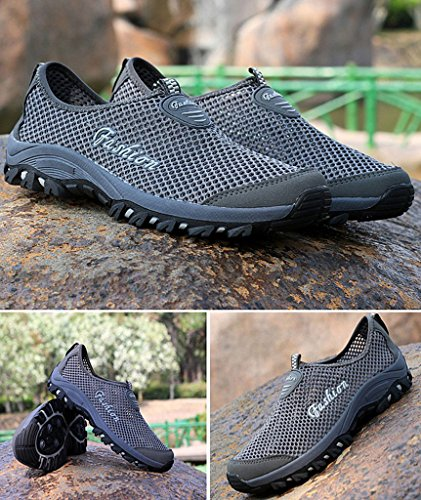 Aqua Mesh Grey Beach Breathable Trainer On Quick Men Eagsouni Slip Surf Unisex Shoes for Women Summer Drying Water Shoes REx1A5w4q