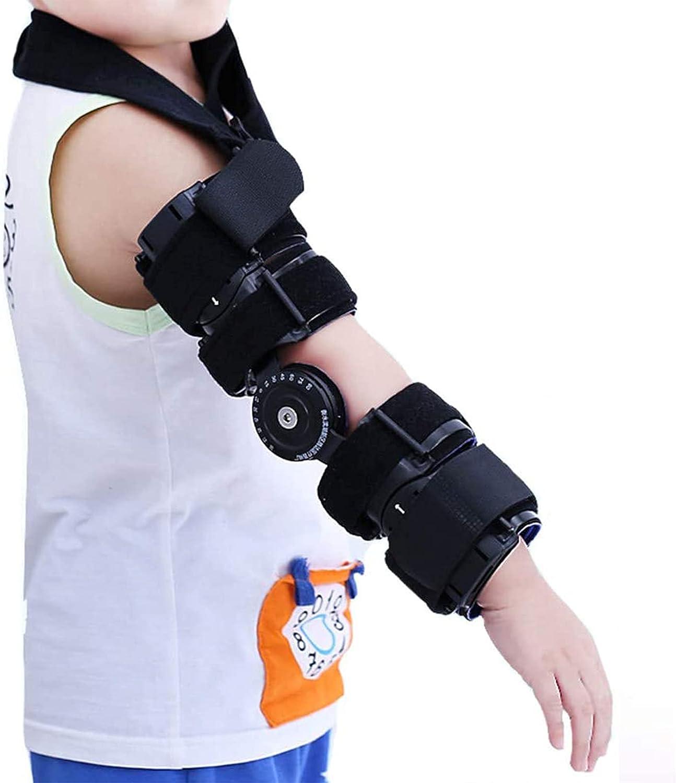 YUXINCAI Codo con Bisagras para Niños - Férula Estabilizadora De Ortesis De Codo Ajustable - para Alivio del Dolor De Artritis Articular, Tendinitis, Recuperación De Lesiones Deportivas