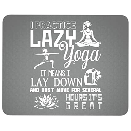 Amazon.com : Cool Lady Yoga Premium-Textured Mouse pad, I ...