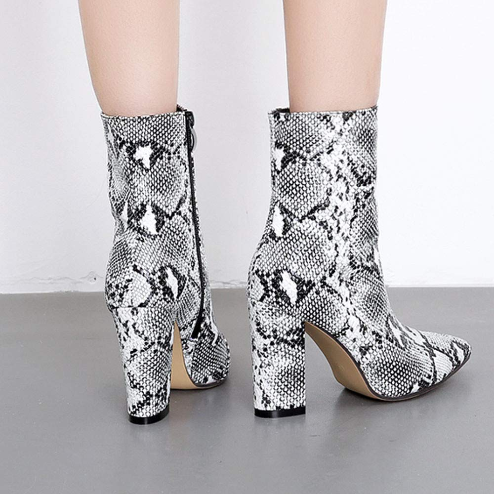 Amazon.com: GIFC Women Serpentine Ankle Boots Pointed Toe Stilettos Shoes Fashion Sexy Boots: Clothing