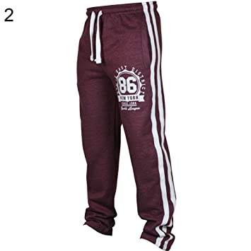 Nordira - Pantalones de Yoga para Hombre, Rojo Vino, Extra ...