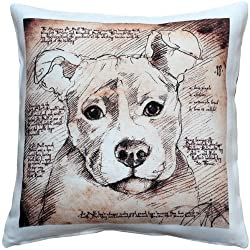 Pit Bull Dog Pillow 17x17