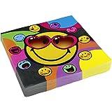 Amscan - 552428 - 20 Serviettes Smiley Express - 33 x 33 cm