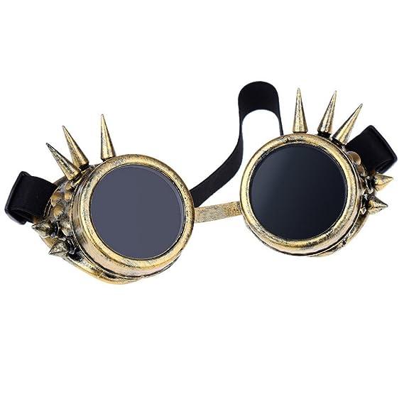 TOOGOO(R)Retro Steampunk Gafas de seguridad gafas de proteccion Gafas remache Steampunk Diseno Gotico Cosplay Lentes Gafas Camello: Amazon.es: Ropa y ...