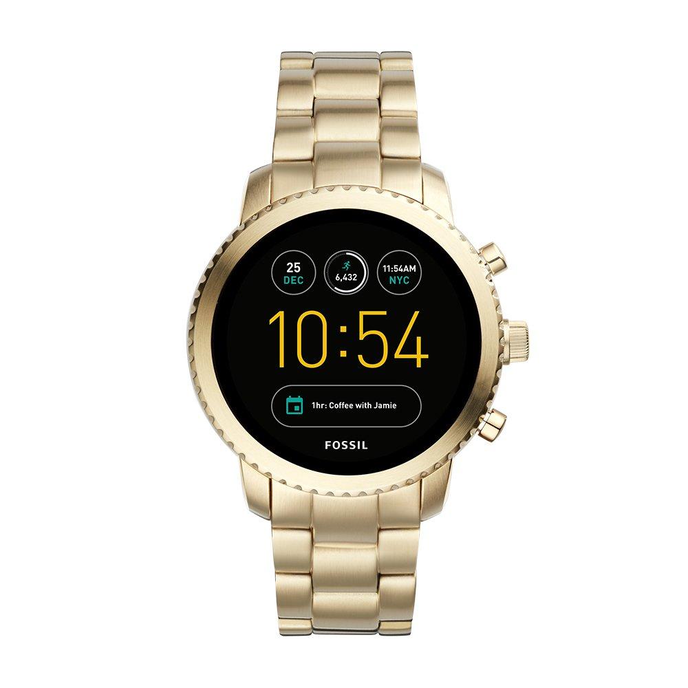 Fossil Men's Gen 3 Explorist Stainless Steel Touchscreen Smartwatch, Color: Gold (Model: FTW4010)