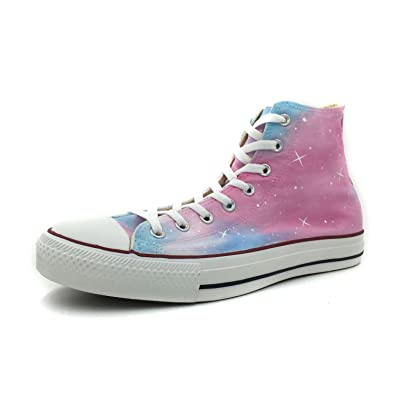 14913f8b34f1 Custom Shoes Womens Pink Galaxy Hand Painted High Top Fashion Unique Canvas  Shoes  Amazon.co.uk  Shoes   Bags