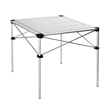Zusammenklappbarer Aluminium Rolltisch wetterfest Camping Esstisch zum Klappen