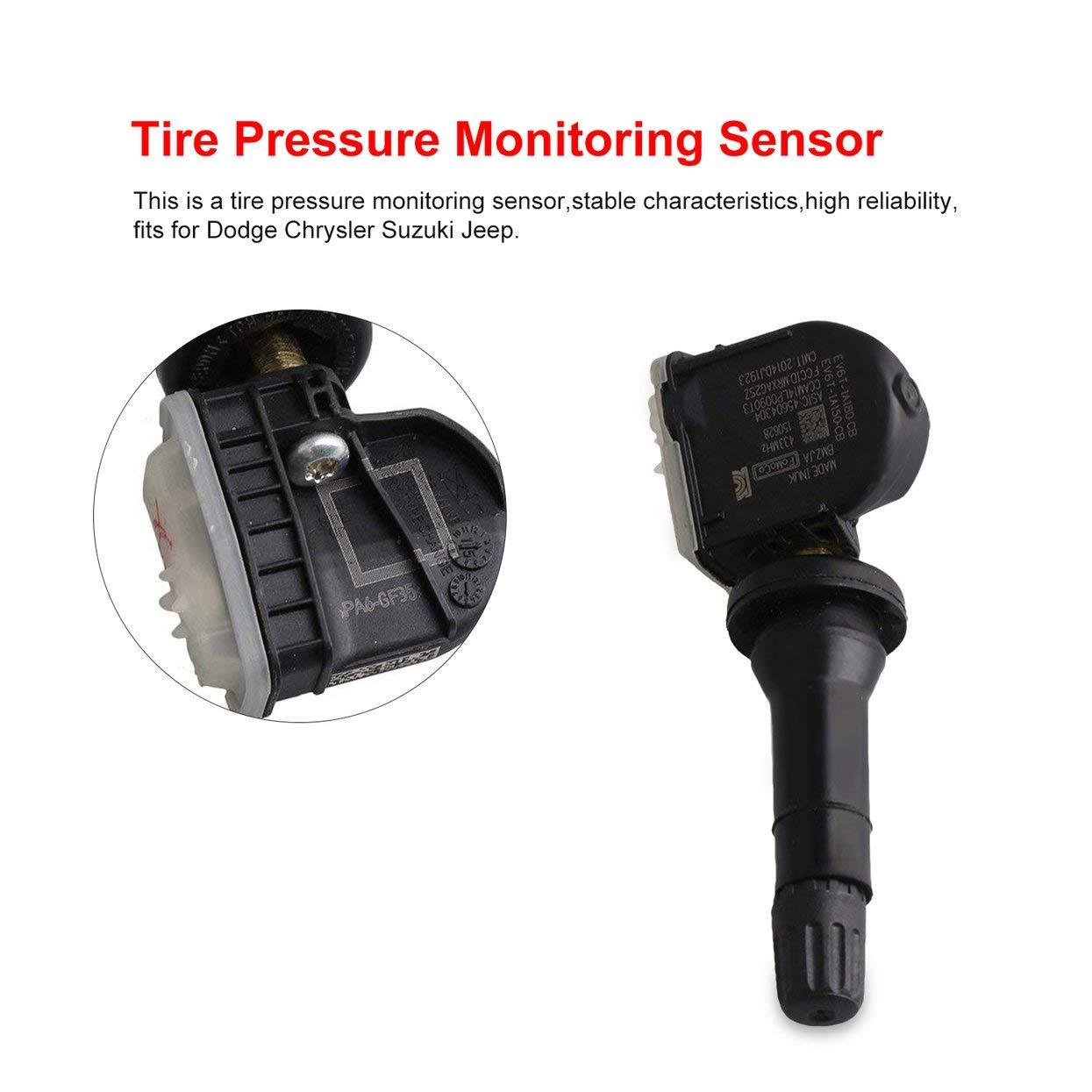 Noir LoveOlvido Capteur de Surveillance de Pression des pneus Convient pour Ford Fox Ranger EV6T1A180CB Capteur de Pression des pneus Capteur de Pression des pneus