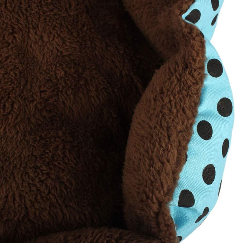 2019 New! Pet Bed,Small Dogs Winter Warm Fleece House Puppy Cat Plush Cozy Nest Mat Pad (36cm x 30cm, Blue) by Leewos-Pet Clothes (Image #6)