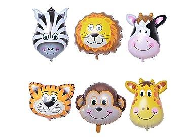 Amazon.com: 6pcs/mucho overol cebra ciervos tigre cabeza ...
