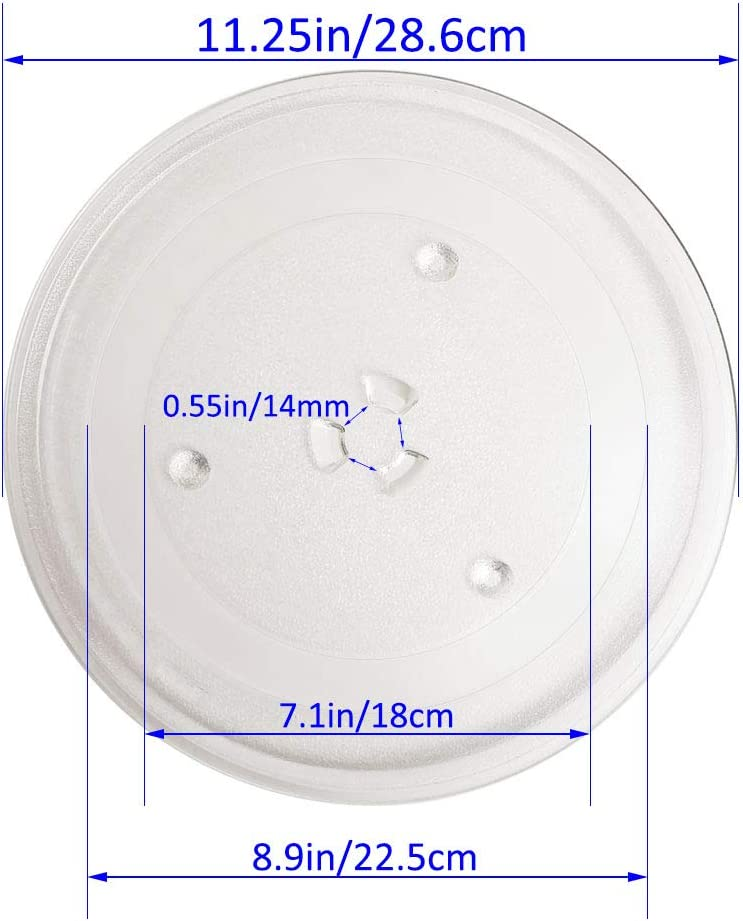 Compatible with ge and samsung model ME16h702SES and PEM31DM4WW 11.25 Microwave Glass Plate Microwave Glass Turntable Replacement,Equivalent to DE63-00536A WB49X10097 WB49x10224