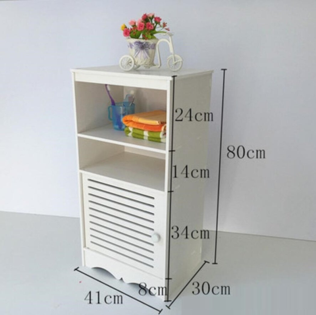 GL&G Bathroom Furniture Toilet Housewares Cabinets Floor Cabinets Waterproof storage rack bathroom counters,D by GAOLIGUO