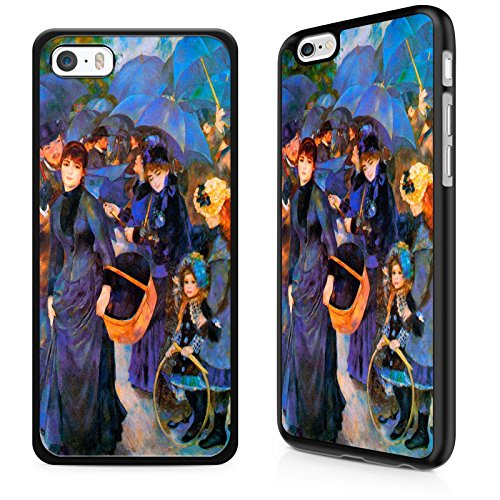Gadget Zoo Classic Art Collection Umbrellas, Pierre Aususte Renoir Famous Artist Painting Range Phone Case Hard Cover For iPhone 6 / 6s Black ()