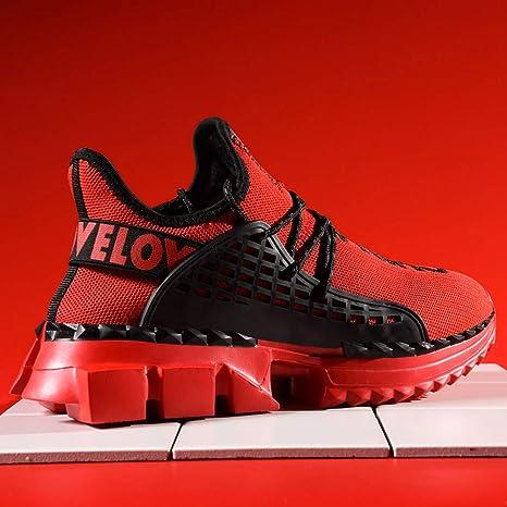AEPEDC Zapatillas para Hombre Hombres Otoño Invierno Zapatillas de Deporte High Top Hombres Zapatos Casuales Moda Amarillo Calcetines Elásticos Transpirables Zapatos Hombres: Amazon.es: Deportes y aire libre